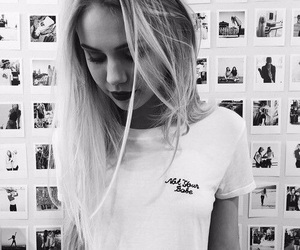 girl, black and white, and tumblr image