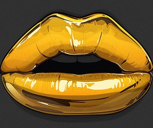 background, lips, and gold image