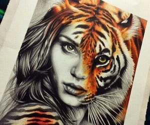 tiger, drawing, and art image