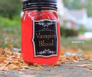 vampire, fall, and Halloween image