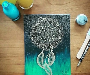 inspiration, art, and dreamcatcher image