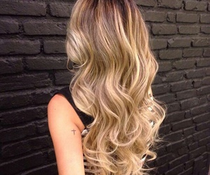 blonde, color hair, and curly image