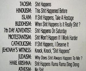 religion, funny, and shit image
