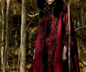 red dress, salem, and witch image