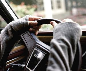 car, photography, and hands image