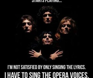 Queen, bohemian rhapsody, and funny image