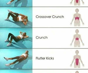 crunch, heel touch, and workout image