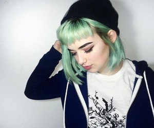 xoe, aesthetic, and blue hair don't care image