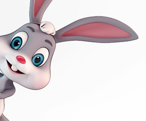 cartoon, rabbit, and wallpapers image