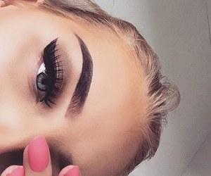 girl, pretty girl, and eyebrowns image