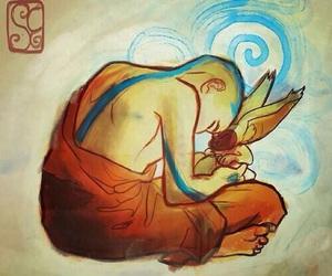 aang, avatar, and momo image