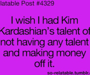 funny, kim kardashian, and quote image