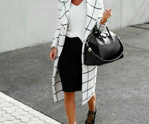 black and white, heels, and woman image
