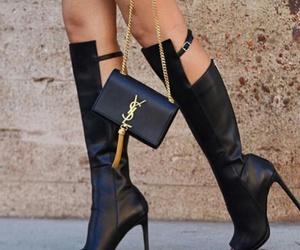 black, fashion, and yves saint laurent bag image