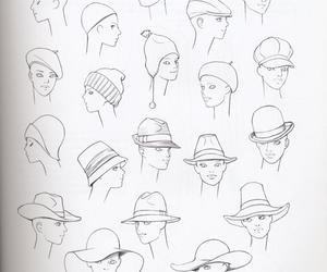 draw, fashion, and hat image
