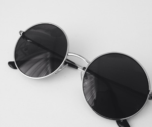 black, hipster, and sunglasses image