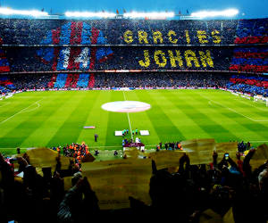 Barca, fans, and tribute image