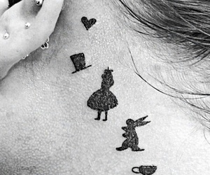 tattoo, alice in wonderland, and tatto image