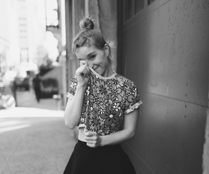girl, black and white, and style image