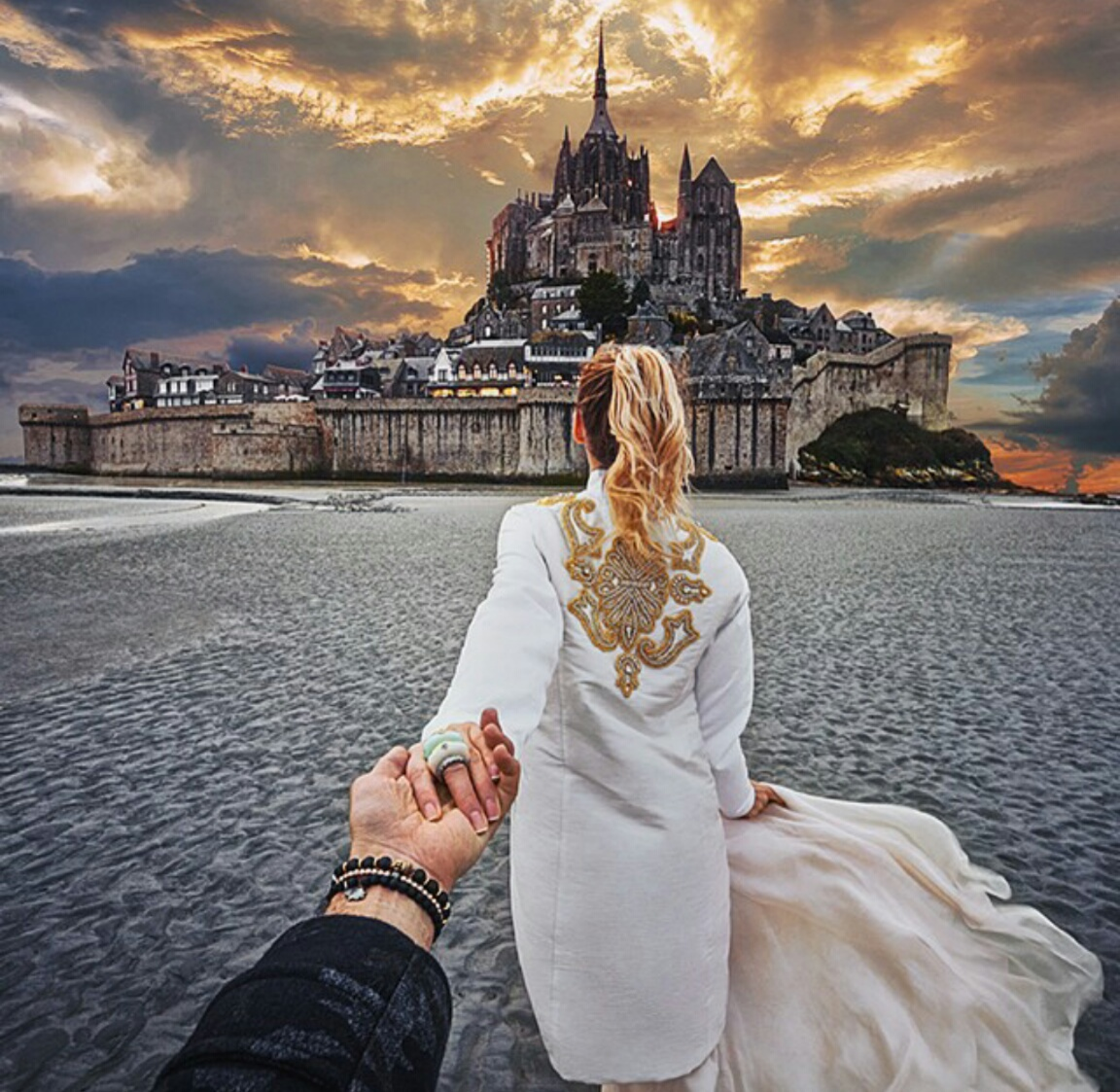 follow me to, couple, and travel image