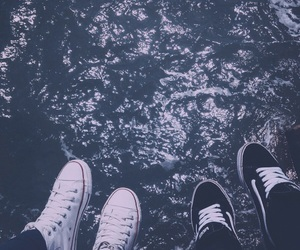converse, sea, and friendship image
