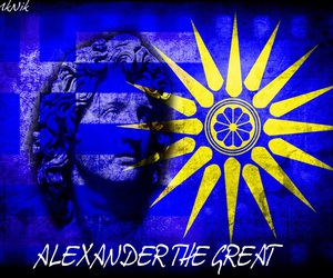 alexander, macedonia, and flag image