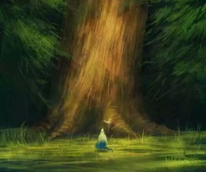 Darkness, drawing, and giant tree image