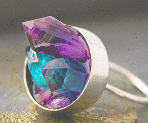 ring, crystal, and purple image
