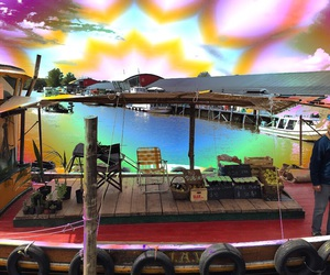 acid, pyschedelic, and boat image