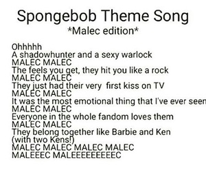 spongebob, the mortal instruments, and alec lightwood image