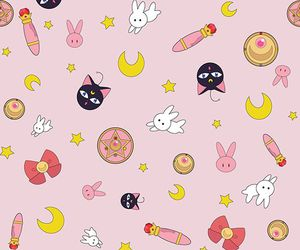 sailor moon, wallpaper, and pattern image