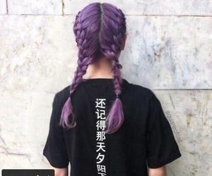 hair, purple, and girl image