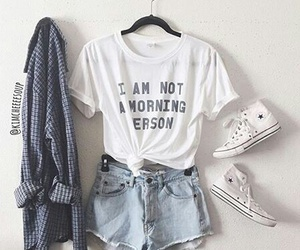 blue, converse, and outfits image