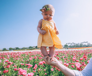 baby, flowers, and rosie image