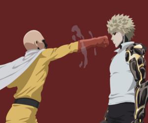 saitama, genos, and one punch man image