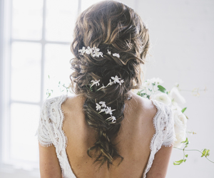hair, long hair, and wedding hairstyles image