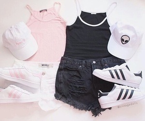 adidas, outfit, and pink image