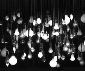 light, black, and black and white image