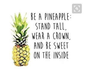 pineapple, quotes, and crown image