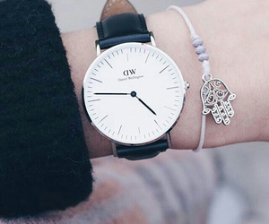 black and white, bracelet, and chic image