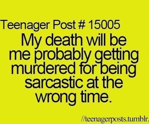 death, sarcastic, and funny image