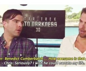 chris pine, star trek, and benedict cumberbatch image