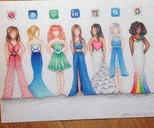 google, dress, and vine image