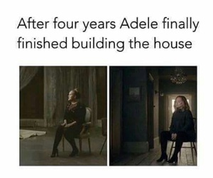 Adele, funny, and house image