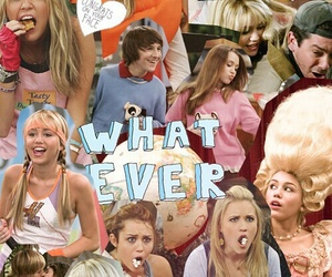miley cyrus, hannah montana, and Collage image