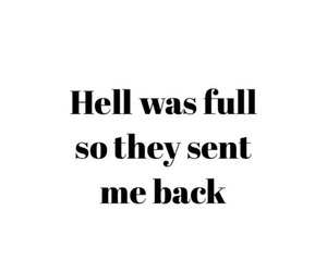 quotes, hell, and back image