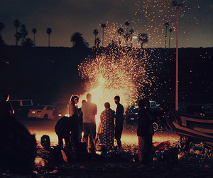 night, summer, and party image