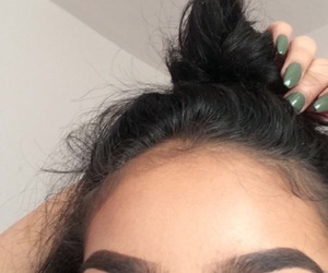 bun, nails, and eyebrows image