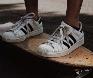 adidas, skate, and skateboard image