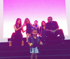 kaynewest, northwest, and kimkardashian image